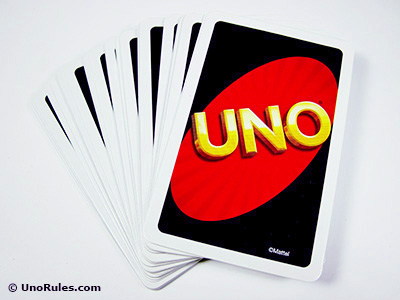uno card stack