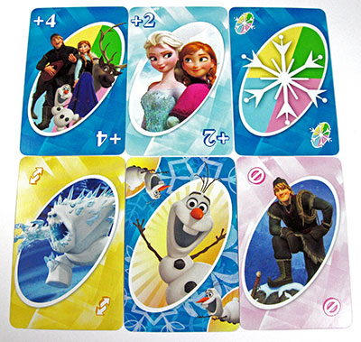 uno frozen action cards