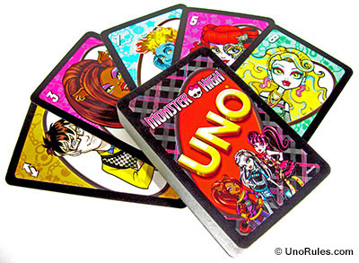 uno monster high cards