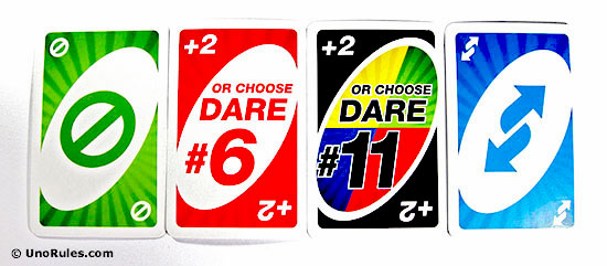 uno dare action cards