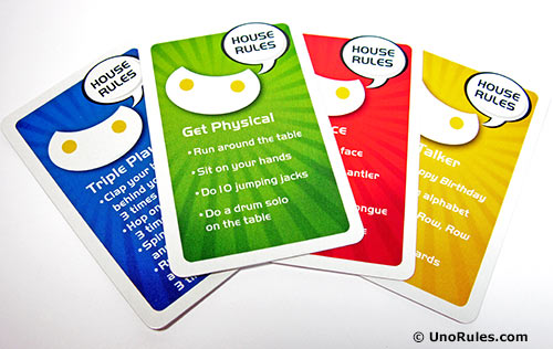 uno roboto house rule cards