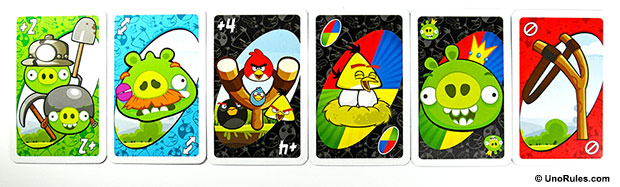 uno angry birds action cards