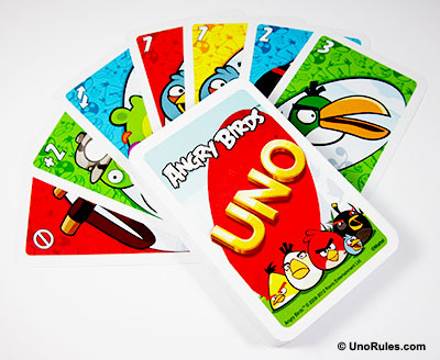 uno angry birds cards