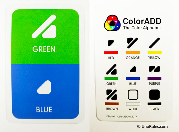 coloradd symbols for green and blue
