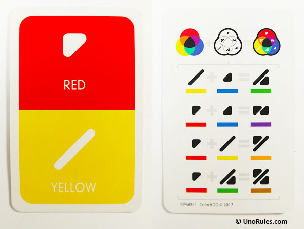 coloradd symbols for red and yellow