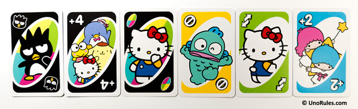 uno hello kitty action cards