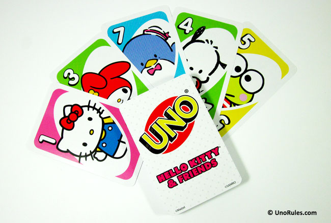 uno hello kitty cards