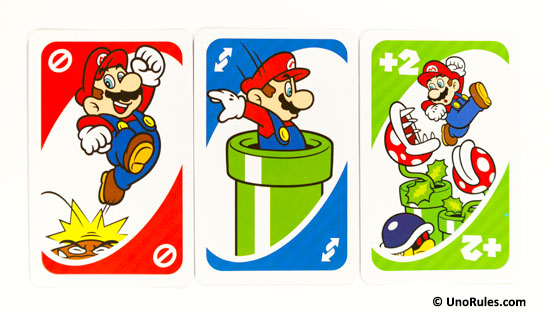 uno super mario action cards