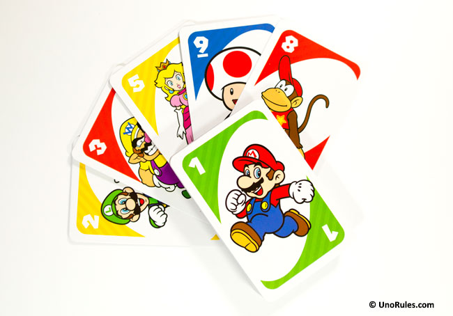 uno super mario cards