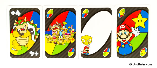 uno super mario wild cards