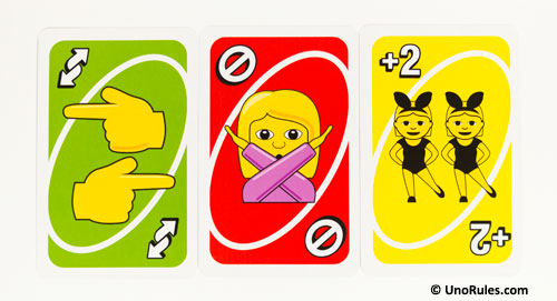 uno emoji action cards