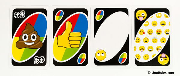 uno emoji wild action cards