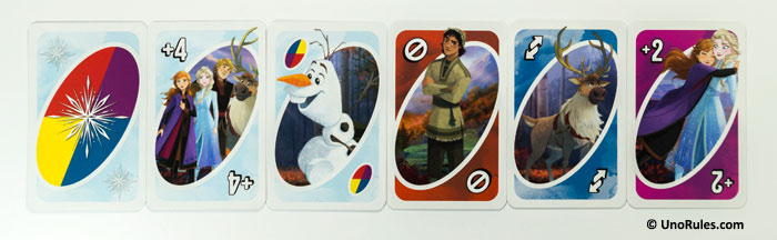 uno frozen 2 action cards