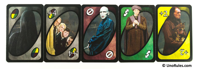 uno harry potter action cards